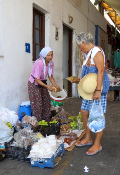 Interior or Bodrum Market Turkey