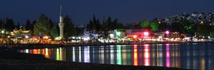 Bitez Beach and Bay at Night photo Bodrum Turkey