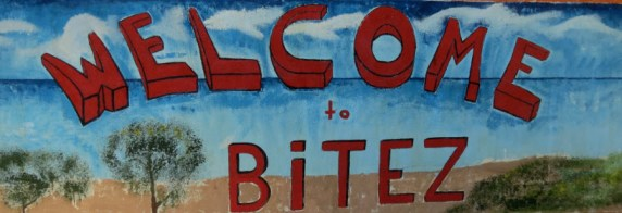 Welcome to Bitez Beach & Bay sign Bodrum Peninsula Turkey