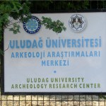 Uludag University sign for Gumusluk Turkey