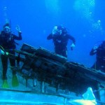 Divers near a wreck in Bodrum Turkey