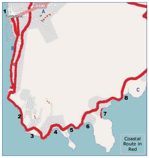 Location of Turgutreis Municipality Beaches Bodrum Peninsula Turkey