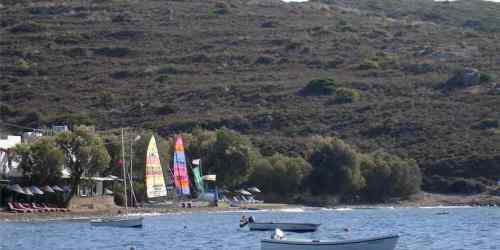 Windsurfing rental on Gumusluk Beach Bodrum Peninsula Turkey