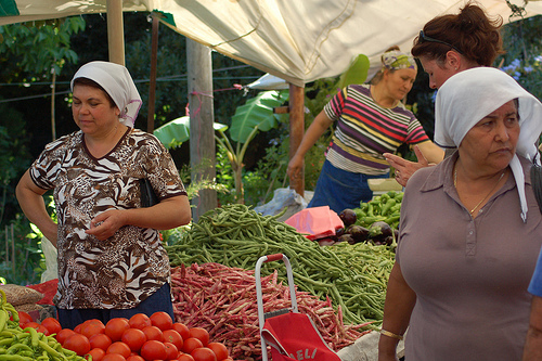 Gundogan Market Bodrum Peninsula Turkey
