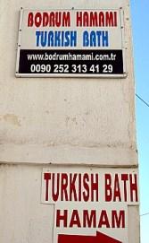 Bodrum Turkish Bath, Turkey Sign and contact information