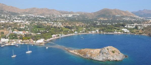 View of Gumusluk Bay Turkey
