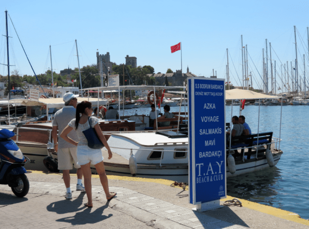 Bodrum Water Taxi from the Marina Turkey Roving Jay Travel Writer