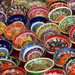 Traditional Turkish Ceramic Bowls Bodrum Peninsula Turkey