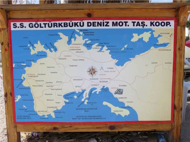 Golkoy Boat Trip Sign by the Harbour