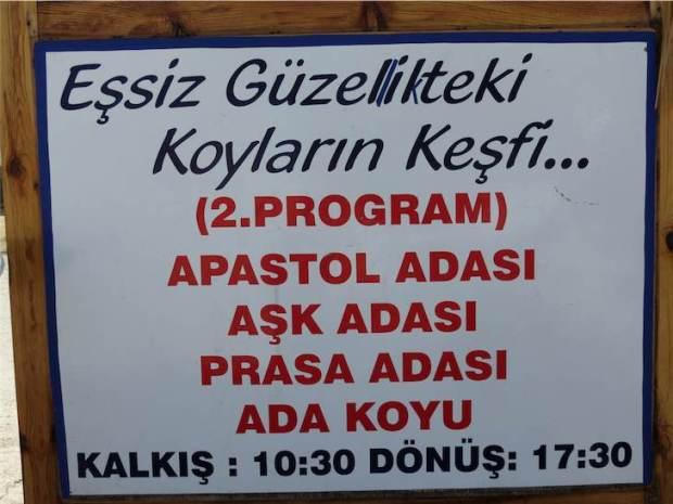 Gölköy Day Boat Trips Route 2