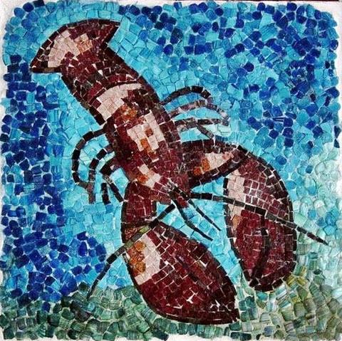 Mosaic Art by local Bodrum Artist Turkey