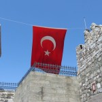 Bodrum Castle Red Flag Turkey