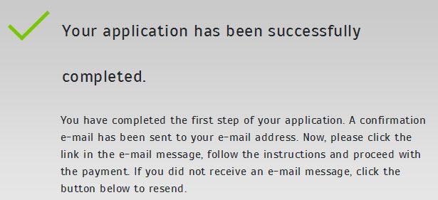 e-Visa confirmation message for your Turkey Visa Application Official Website