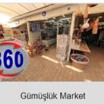 Gumusluk Market 360 degree view of souvenir shops