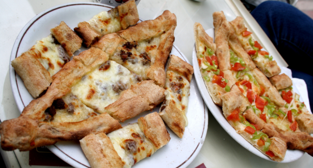 Turkish Pide local food of Bodrum