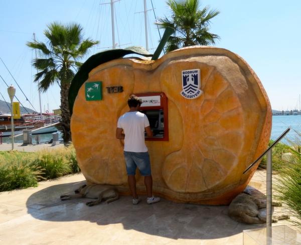 Datca Ferry Boat Bodrum Cash Machine Turkey