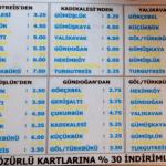 Turkbuku to Turgutreis Coastal dolmus Fares 2016