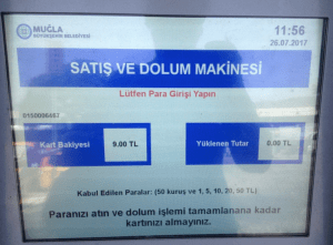Bodrum Bus Station Kent Card Kiosk