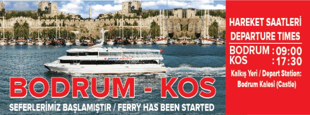 Bodrum Kos Ferry Service Dentur Avrasy Turkey