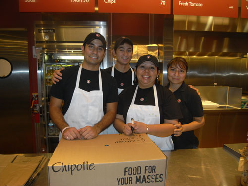 Pacific Beach and Poway Chipotle Feed the FireFighters San Diego