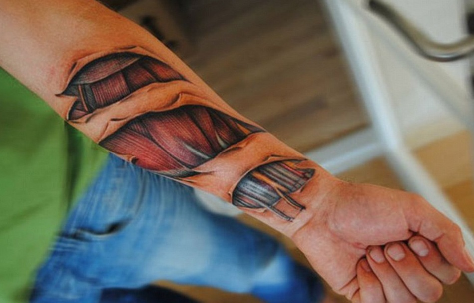 Hyper realistic tattoos that will surprise you body art for Flesh wound tattoo