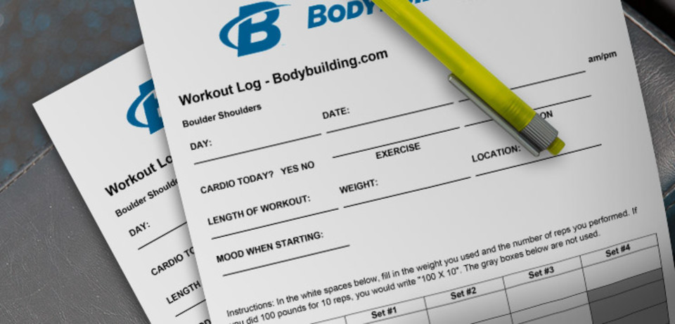 Printable Workout Log - Create Your Own! - exercise log template