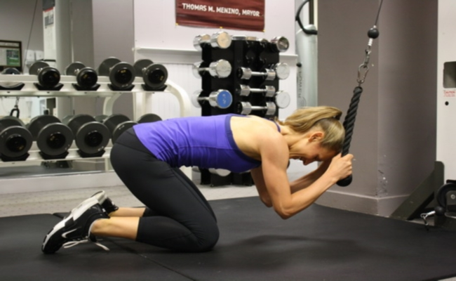 Rope Crunches
