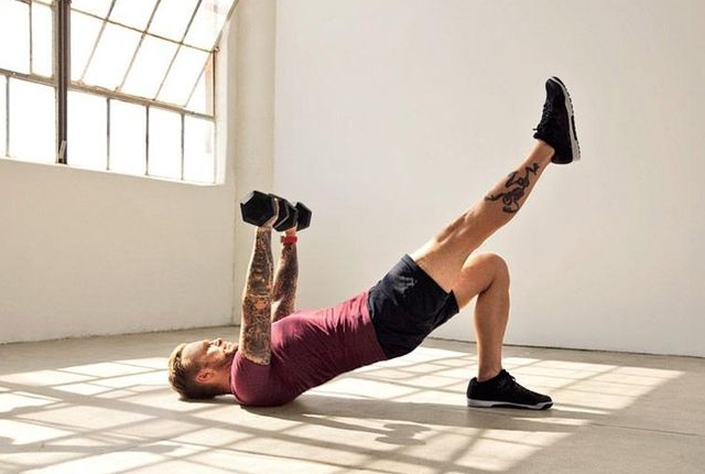 Leg Extensions with Dumbbells