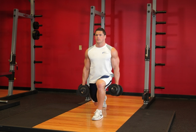 Scoop Lunges With Balance