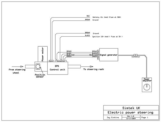 Wiring Diagram For Corsa Electric Power Steering Vauxhall workshop