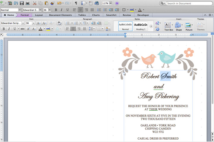 DIY Tutorial FREE Printable Invitation and RSVP Card Template - how to make a party invitation on microsoft word