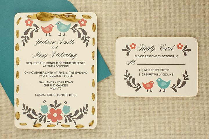 DIY Tutorial FREE Printable Invitation and RSVP Card Template