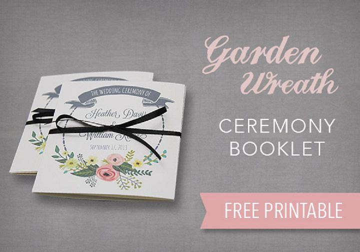 DIY Tutorial FREE Printable Ceremony Booklet - Boho Weddings For - how to design wedding program template