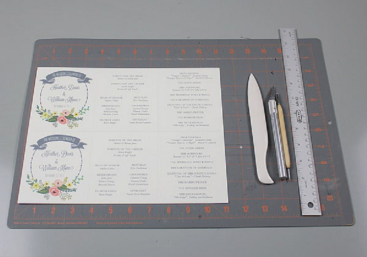 DIY Tutorial FREE Printable Ceremony Booklet - Boho Weddings For
