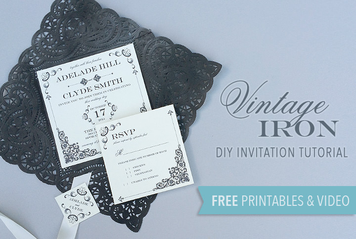 Free Printable Vintage Iron Wedding Invitation And