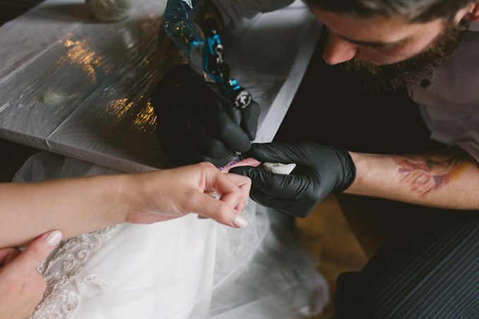 Helena and Neill's Tattoo Loving Northern Ireland Wedding by Devine Photography