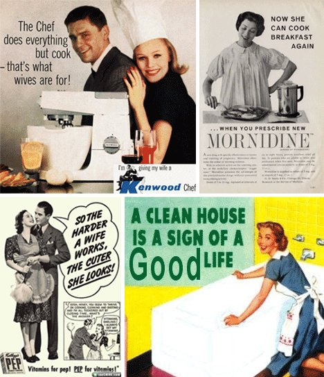 Vintage Ads Depicting Abused And Domesticated Women