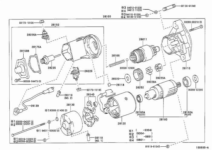 toyota schema moteur electrique voiture