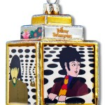 """4152b     3.75″ GLASS  YELLOW SUBMARINE """"SEA OF HOLES"""" ORNAMENT!  SOLD OUT!"""