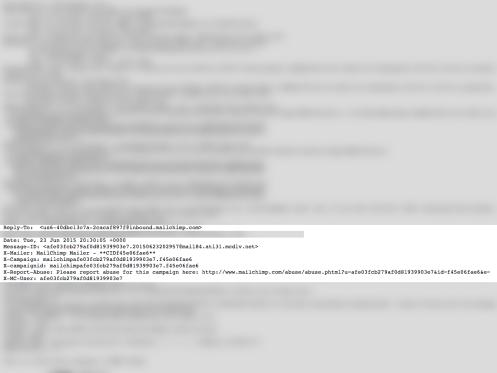 MailChimp header code