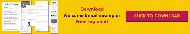 Best examples of welcome emails from my Vault | how to write the best welcome email | best welcome emails
