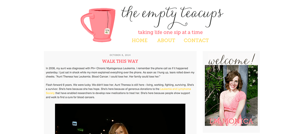 The Empty Teacups Blogger Design