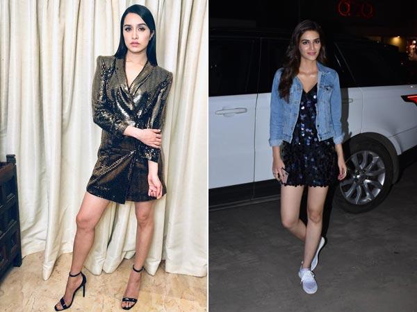 Shraddha Kapoor And Kriti Sanon39s Blingy Dresses Event