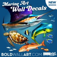 Fish Wall Decals, Removable Fish Wall Stickers - Bold Wall Art