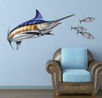 Bold Wall Art | Blue Marlin Wall Decal