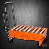 Hydraulic Scissor Roller Top Lift Table Cart | 1100 lb | TF50R