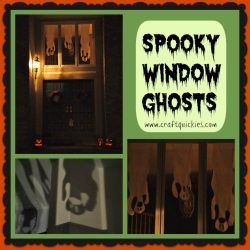 Halloween in a Hurry: Spooky Window Ghosts Guest Post on Crazy Little Projects
