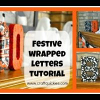 Festive Wrapped Letters Tutorial