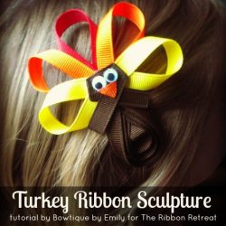 Turkey Ribbon Sculpture Tutorial