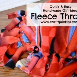 Quick & Easy Handmade Gift Idea: Fleece Throws
